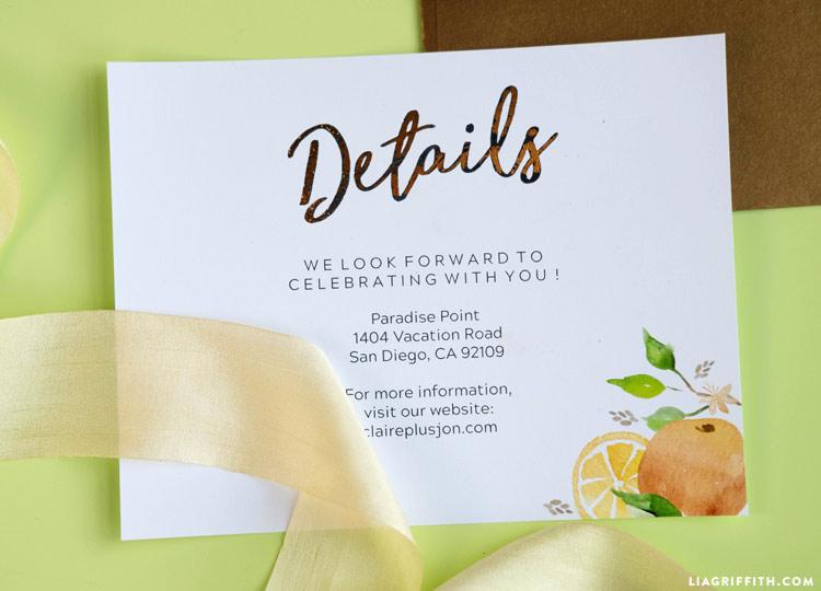 Citrus Paper Goods