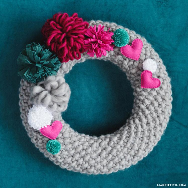 DIY Knit Wreath