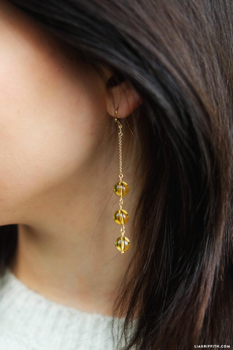 DIY Lemondrop Earrings