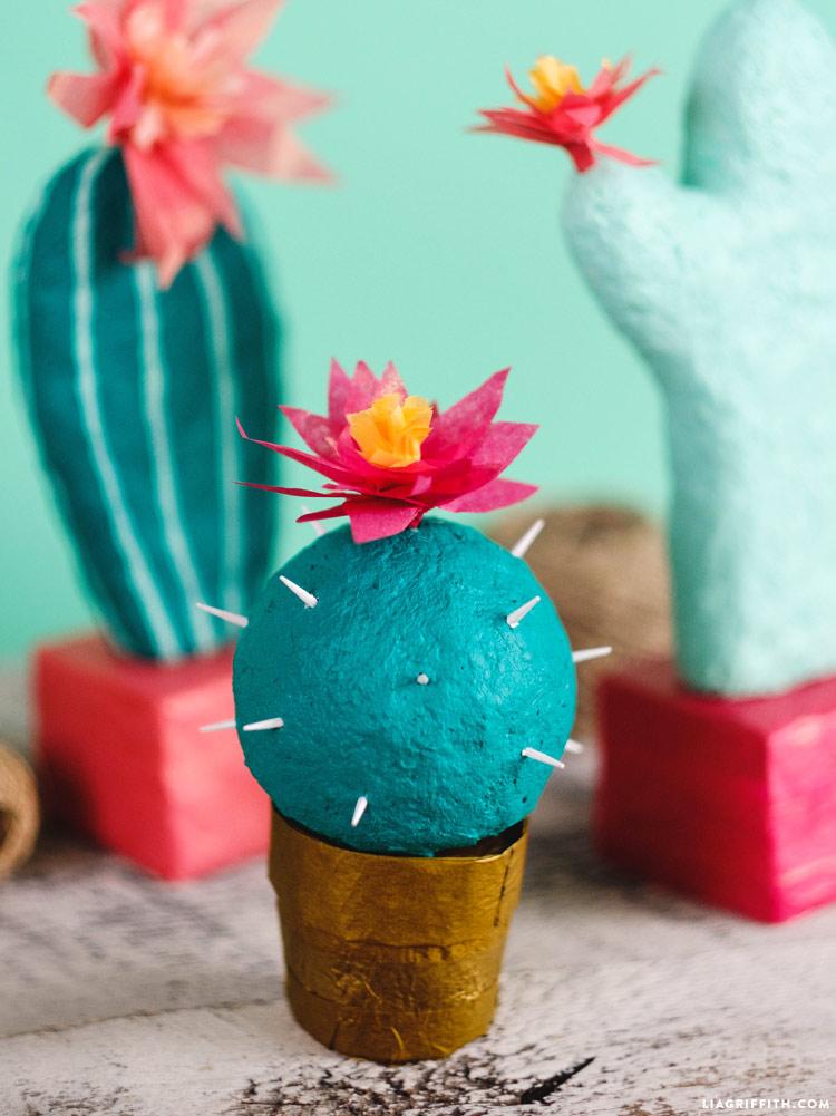Papier Mache Cacti