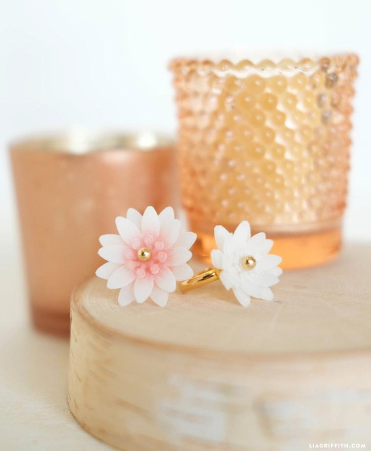 Handmade Flower Rings