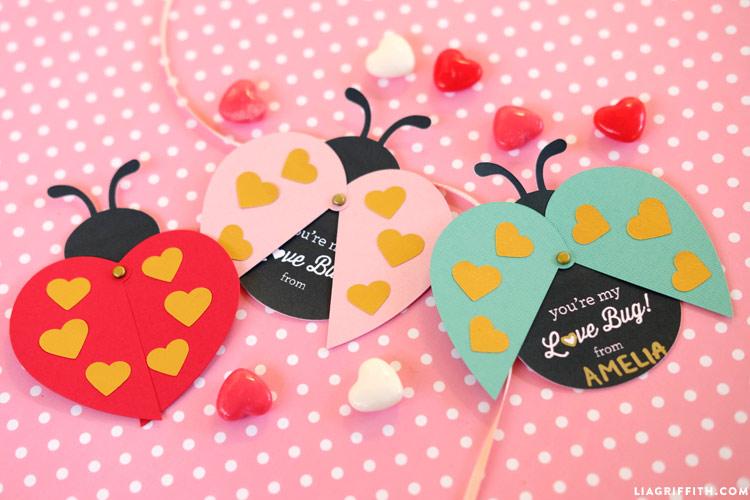 Printable Ladybug Valentines