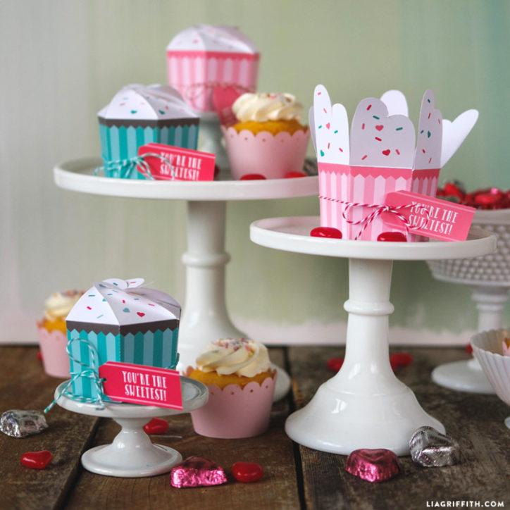 Printable cupcake treat boxes