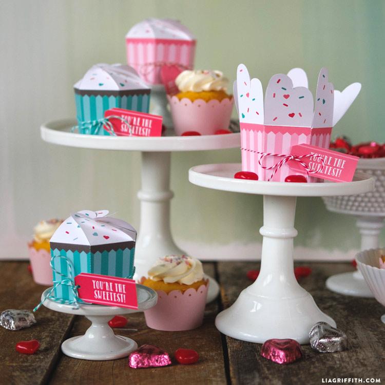 Printbale cupcake treat boxes
