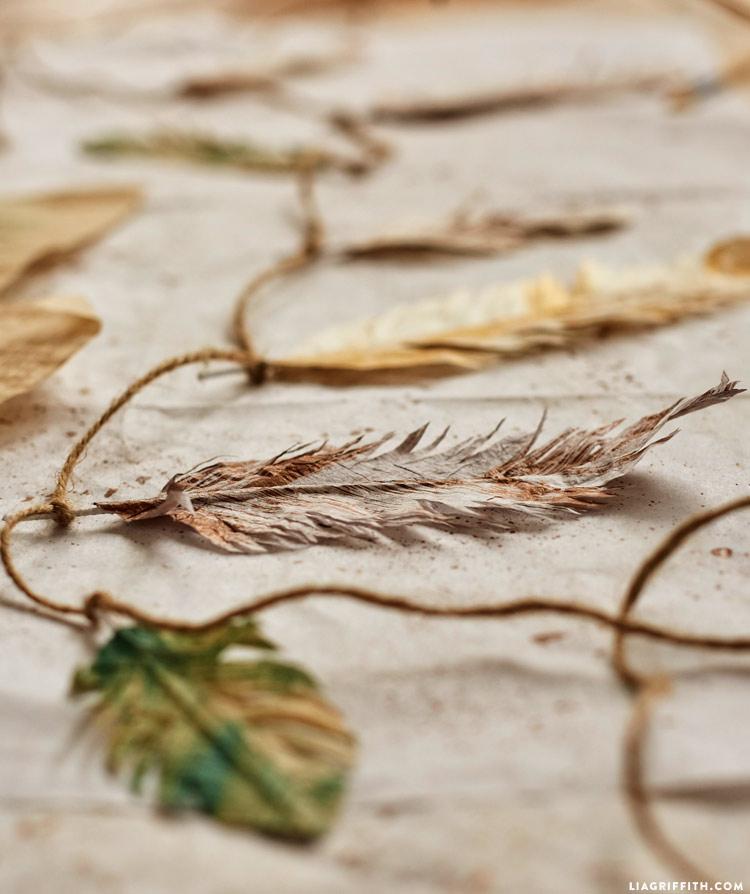 DIY Tissue Feathers