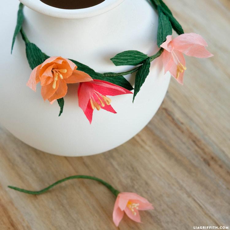 Paper Wildflower Wreath