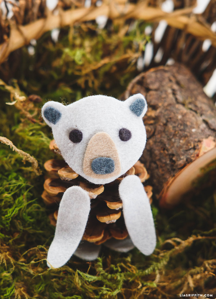 Pinecone Bear Kid's Craft