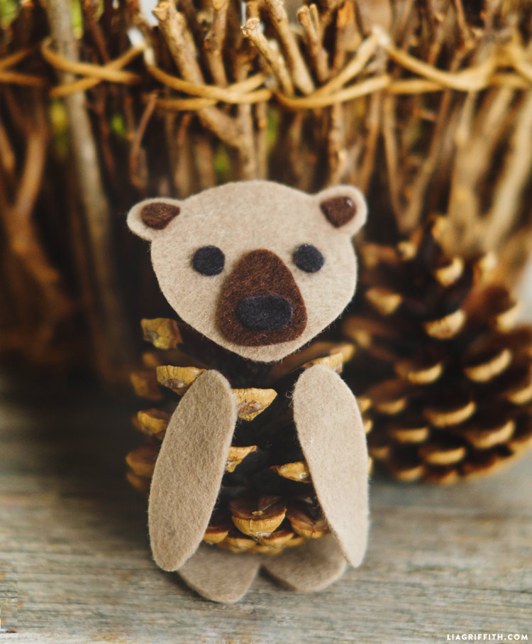 Felt and Pinecone Bear