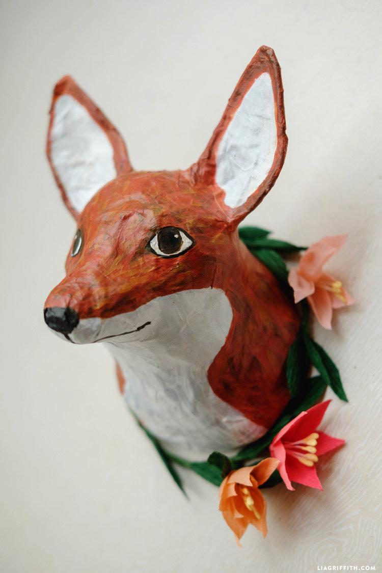 Paper Mache Fox