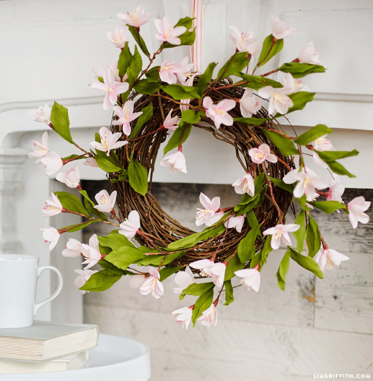 Paper Plum Blossom Wreath