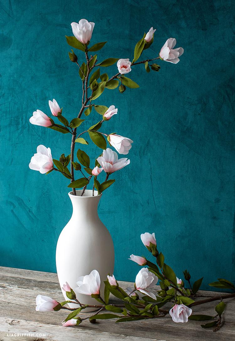 Crepe Paper Magnolia Branch