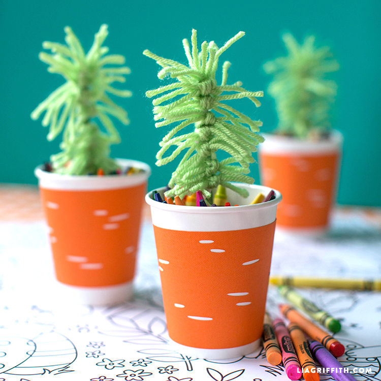 Carrot Cup Cozies
