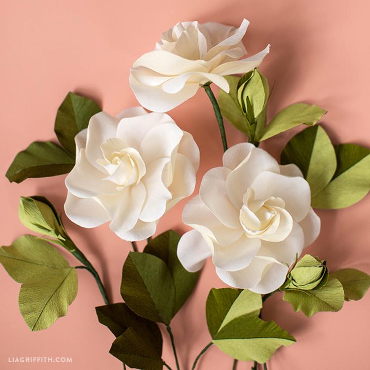 Handmade Paper Gardenias