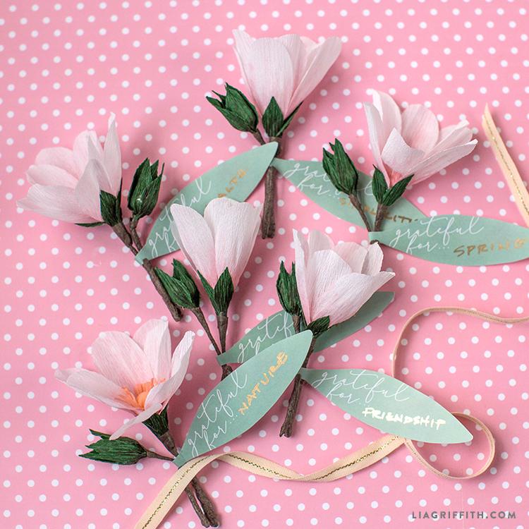 Magnolia Flower Napkin Rings