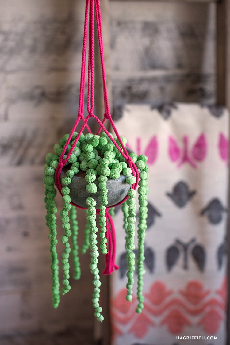 Paper Mache String of Pearls Plant