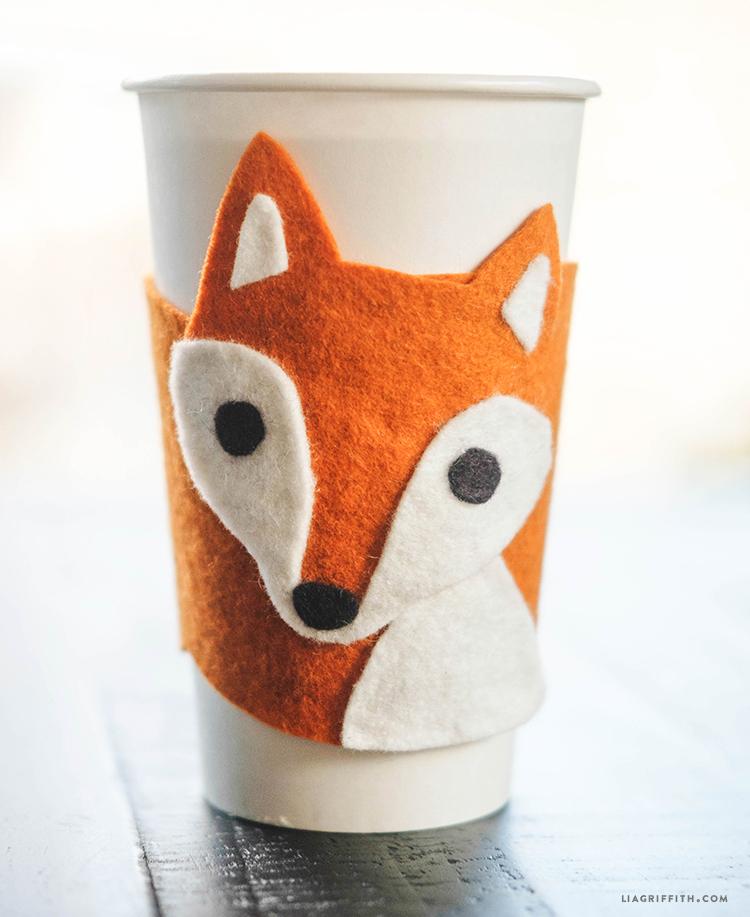 Felt Fox Cup Cozy