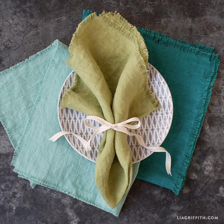 Homemade Frayed Cloth Napkins