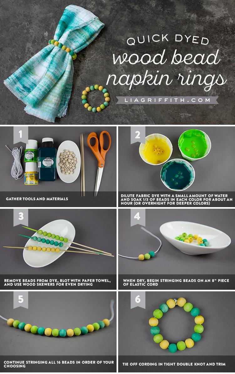 How to Make Beaded Napkin Rings