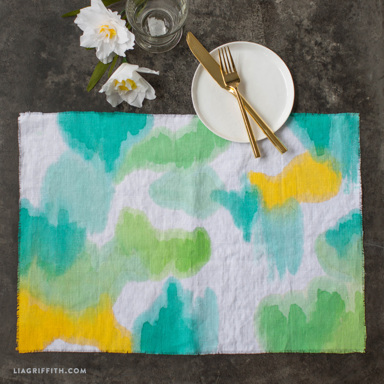Painted Linen Placemats