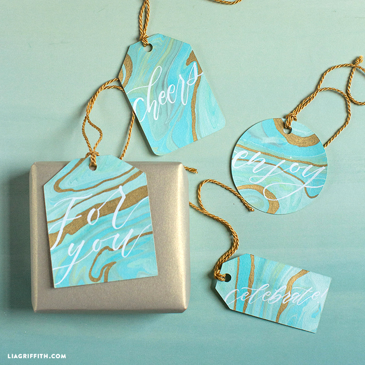 Marble Paper Gift Tags
