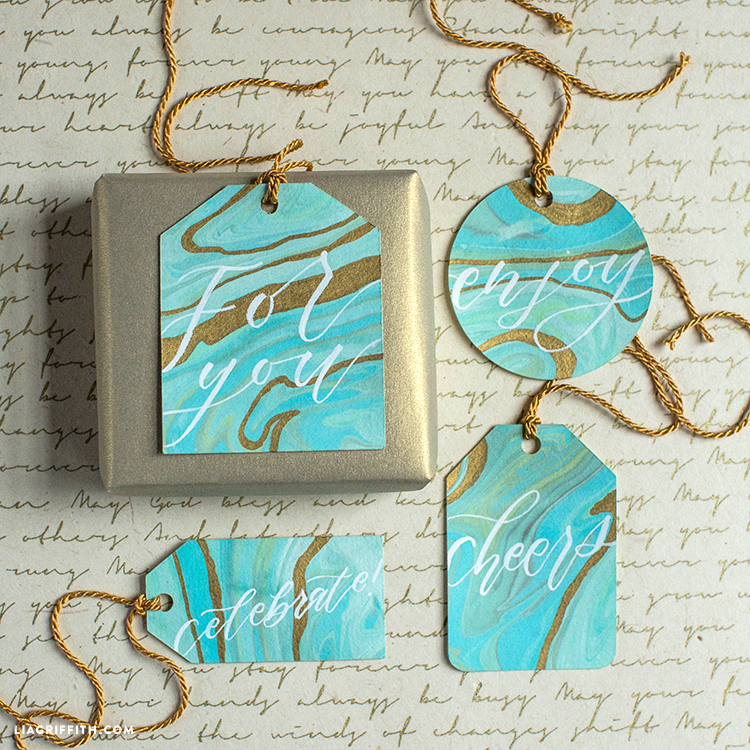 Marbled Gift Tags