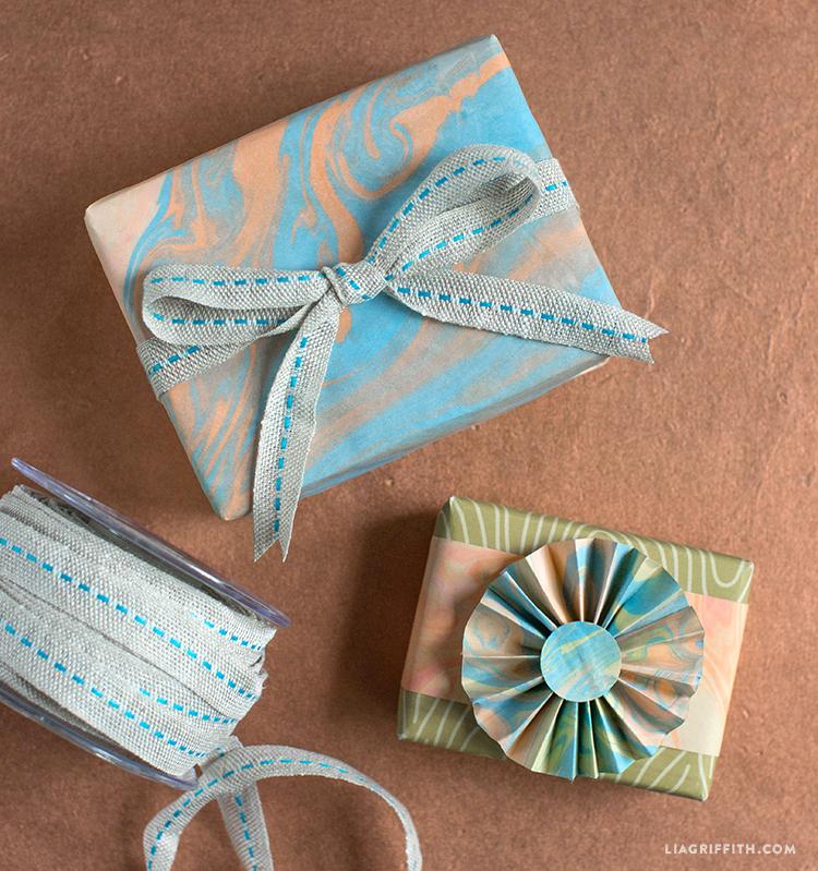 Marbleized Gift Wrap