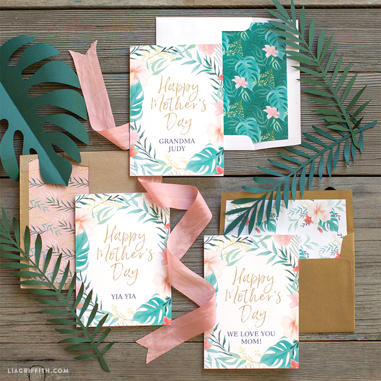 Tropical Mother's Day Card