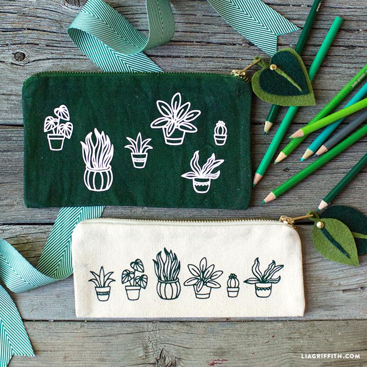 Botanical Pencil Bags