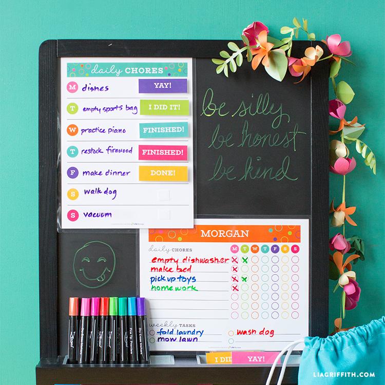chore chart organization