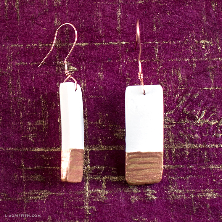 Painted Ceramic Earrings