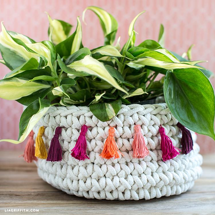 Homemade Tassel Basket