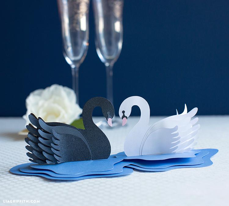 paper swan decor