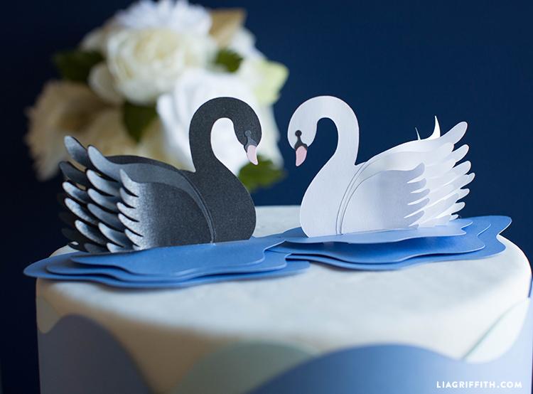 DIY paper swans