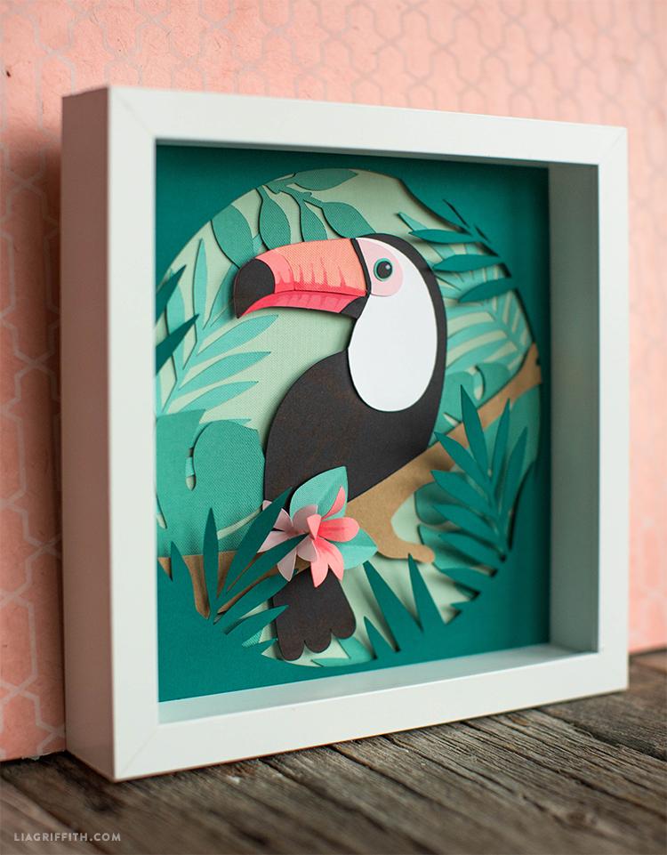 Papercut Toucan Art