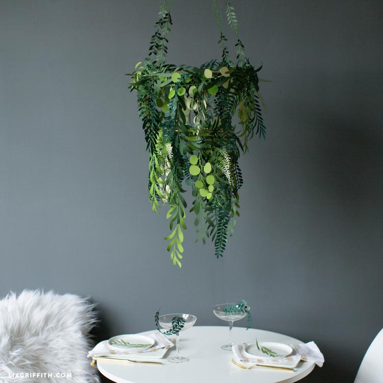Hanging Greenery Chandelier