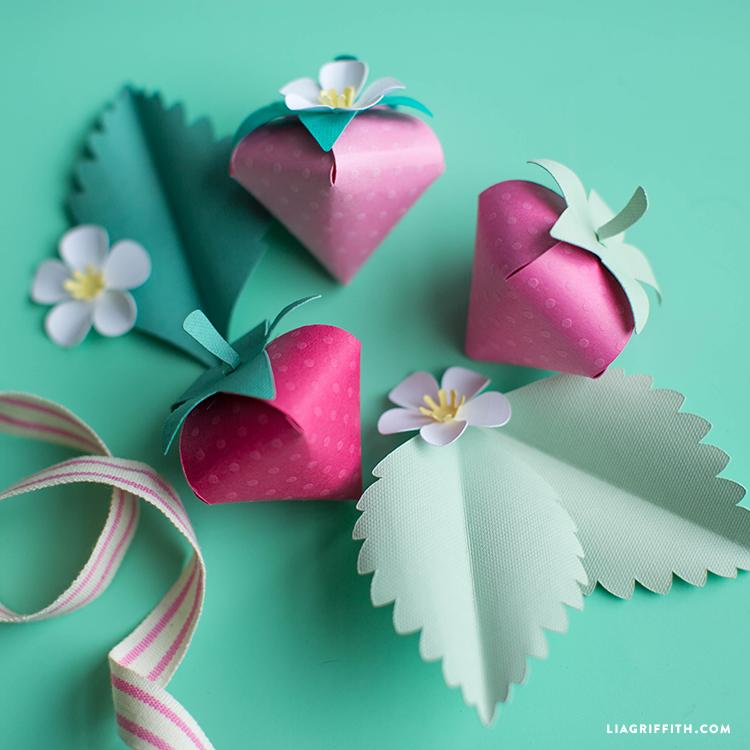 Paper Strawberry Craft