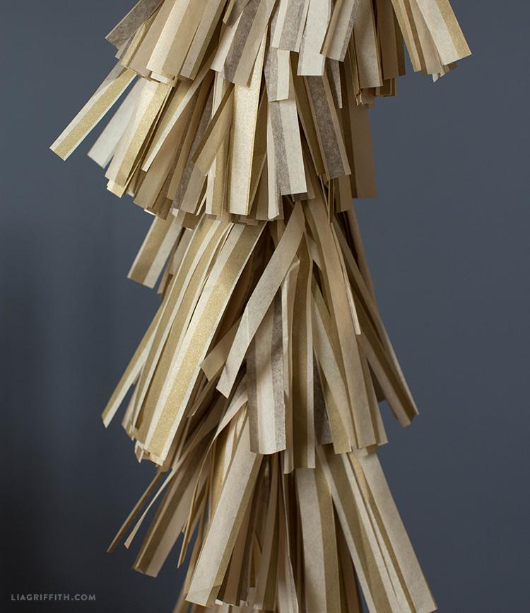Lia Griffith Americana tissue paper in gold stripe