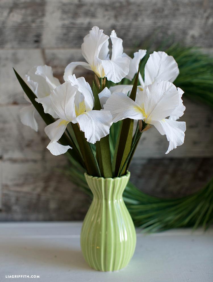 crepe paper iris