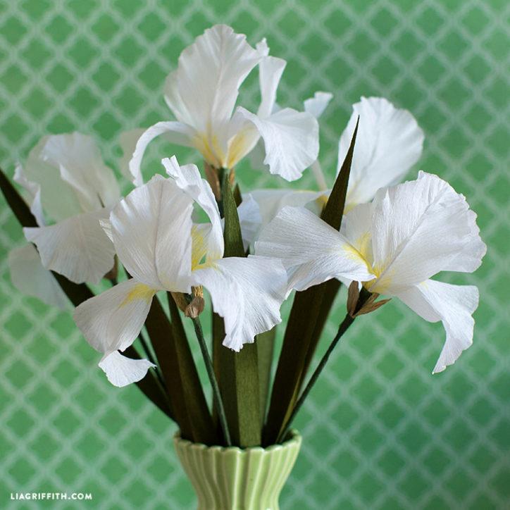 crepe paper iris flowers