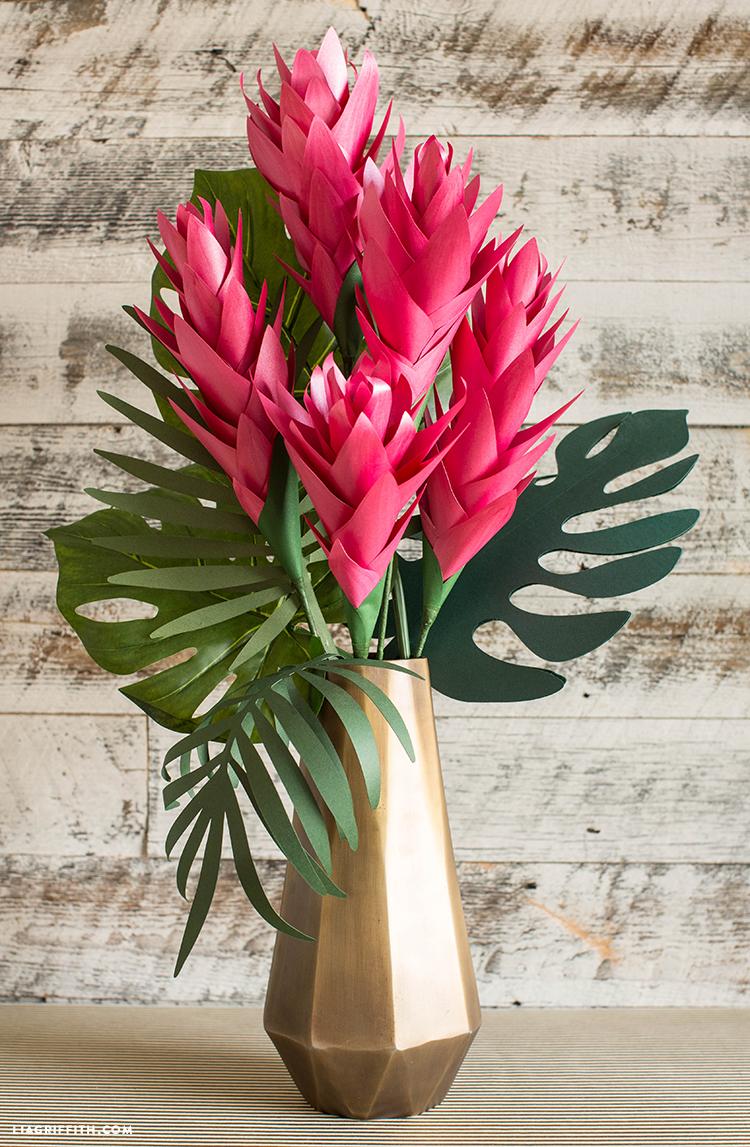 diy tropical flowers