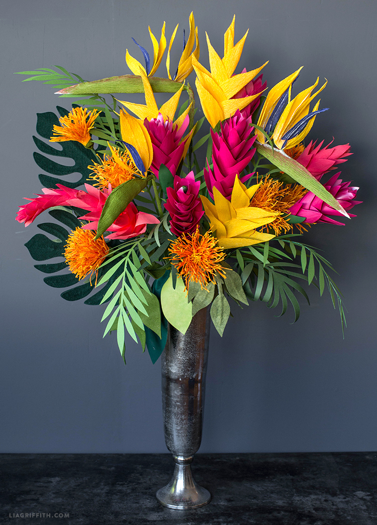 pacific islands paper flowers