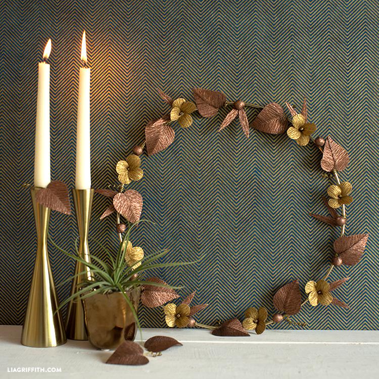 crepe paper wreath