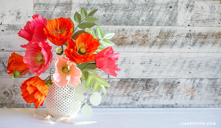 paper poppy bouquet