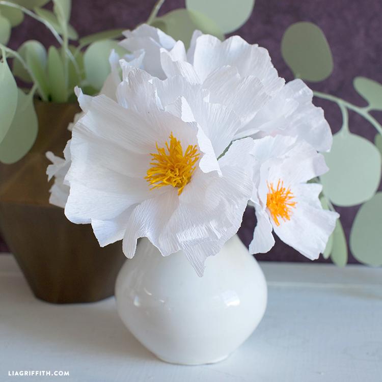 crepe paper tree poppy