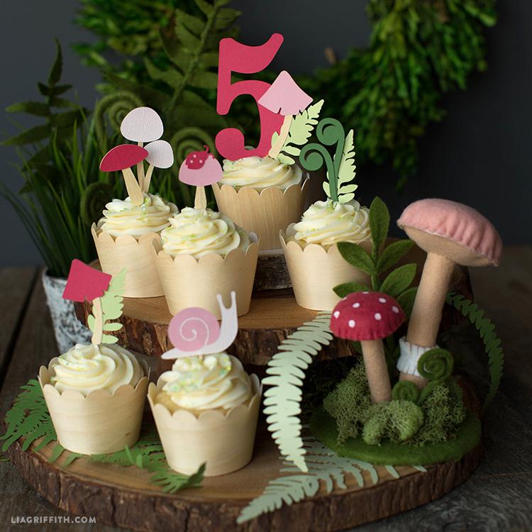 papercut cupcake decor