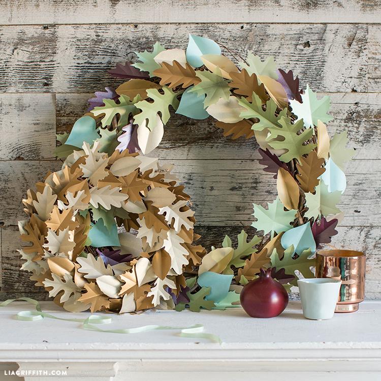 diy papercut wreath