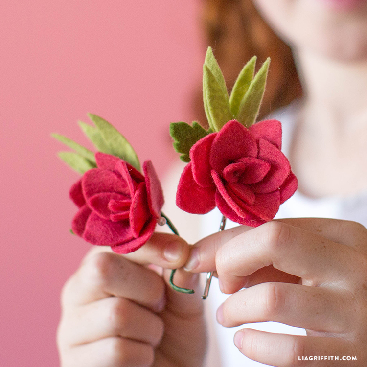 felt rose accessory