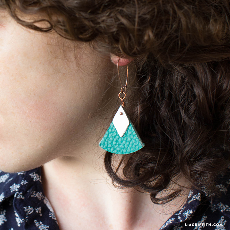diy geometric earrings