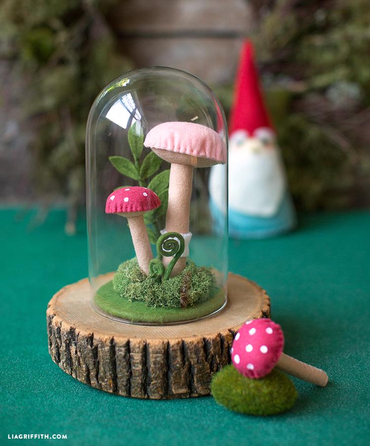 tiny felt terrarium