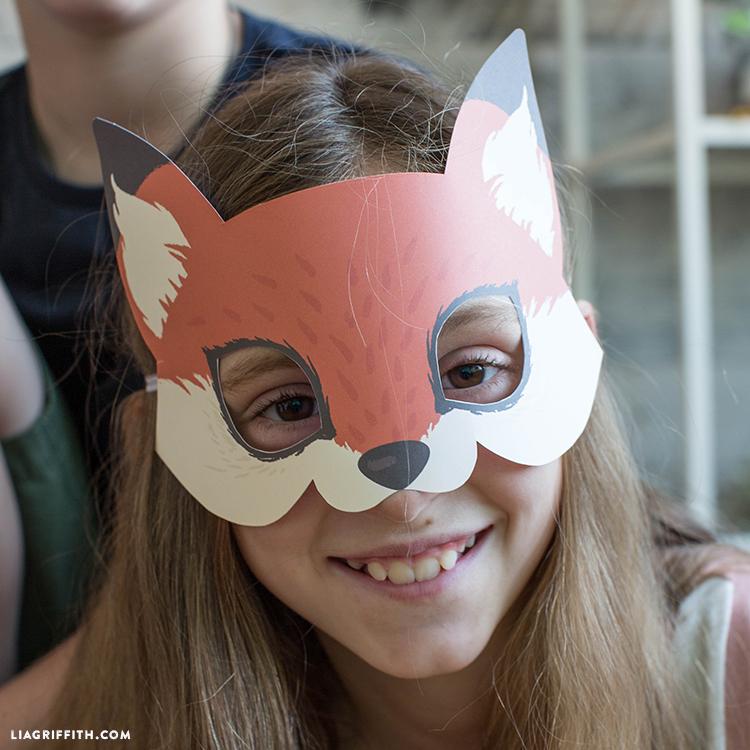 printable fox mask